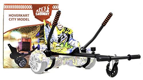 SABWAY Hoverkart Hoverboard - Apto para Niños y Adultos - C