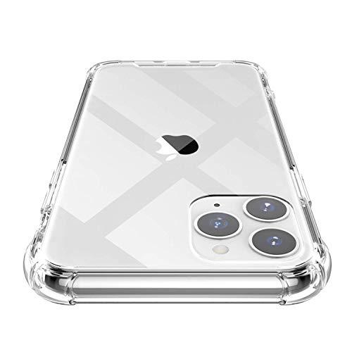 Shamo's iPhone 11 PRO Hülle Transparent, Verstärkte TPU Silikon Stoßstange stoßfester Schutzhülle Case Klar