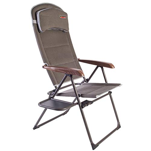 Quest Naples Pro recline chair with side table. Camping Chair Outdoor Camping Furniture
