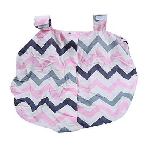 Funda de lactancia, 105 x 75 cm / 41,3 x 29,5 pulgadas Cierre elástico en la parte inferior para que los padres viajen para que el bebé duerma la siesta a prueba de viento(Color stripes)