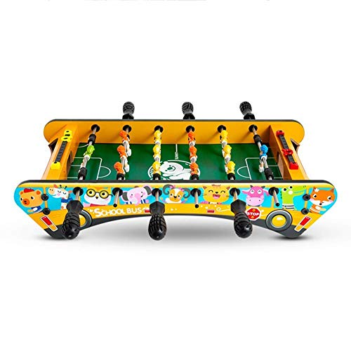 Foosball Table, Mini Football Game Table Animal Bus Easy to Install Children's Toys Family Party Games for Children