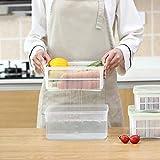 Abcidubxc - Colador de cocina 2 en 1, cesta de vaciado, extraíble, ahorra espacio, herramientas de limpieza de frutas y verduras