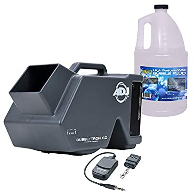 American DJ Bubbletron Go Battery Powered Rechargeable Bubble Machine & Fluid Package by American DJ