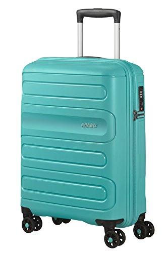 American Tourister Sunside Spinner 55/20 Equipaje de Mano, 55 cm, 35 litros, Turquesa (Aero Turquoise)