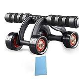 Istruttore muscolare addominale, Allenatore di ab, 4 ruote, Attrezzature per il fitness,I Rullo addominale, Pancia a quattro ruote, Ab Trainer, Bicicletta da allenamento per la pancia, Signori Signore