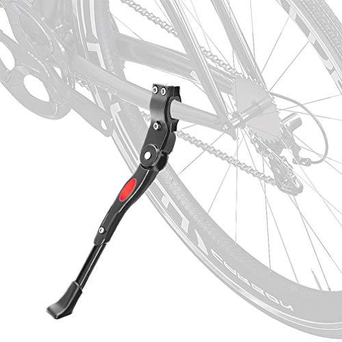 Deruxan Universal Fahrradständer Seitenständer Faltbarer Höhenverstellbar Fahrrad Ständer mit Anti-Rutsch Gummifuß Aluminiunlegierung für 24-28 Zoll Fahrradrahmen, Mountainbike, Rennrad, Fahrräder