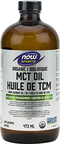 NOW Org MCT Oil 100% Pure from Coconut (Glass), 473 g