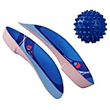 The Pain Soother 3/4 Orthotics Inserts for Plantar Fasciitis Heel Pain Relief, Arch Support, Flat Feet, Heel Support, Over Pronation, for men and women - Foot Exercise Ball Included FSA or HSA Eligible