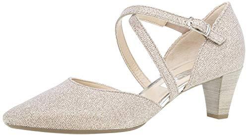 Gabor Damen Pumps, Frauen Riemchen Pumps, high Heels hochhackige Schuhe stoeckelschuhe Ausgehschuhe Abendschuhe Court Shoes,rosato,37.5 EU / 4.5 UK