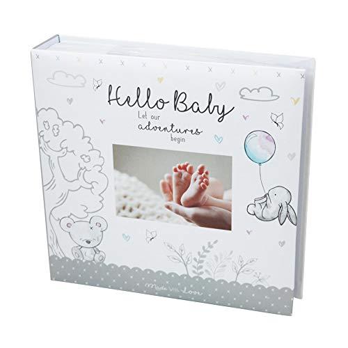 Álbum de fotos para bebé, 10 x 15 cm, 200 fotos, recuerdos, para recién nacido, bautizo, color blanco