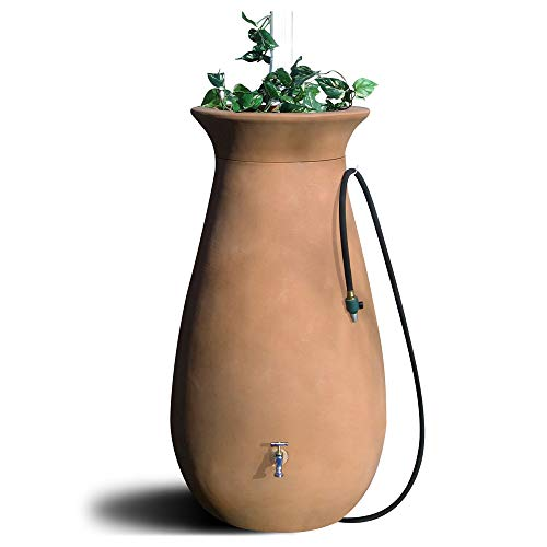 Algreen Products Cascata Rain Barrel 65-Gallon, Terra Cotta