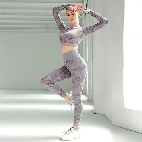 qqff Abbigliamento Sportivo Pattinaggio rotelle,Tuta Yoga Due Pezzi,Abbigliamento Sportivo Attillato Badminton Donna-Viola,Abbigliamento Fitness Sci Nautico