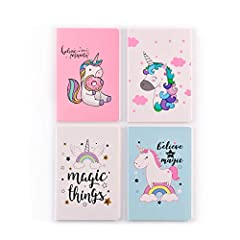 GREAT VALUE FOR MONEY: The package includes 4 pack of well-designed notebooks, rich quantity for your daily using and great value for your money! PERFECT SIZE& MULTIPURPOSE: Each notebook is about 5.3x8.1 inch, easy using and carrying in your bag, id...