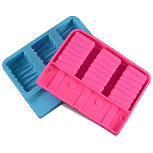 Molde de Helado Silicona, Juego de Moldes Para Helados, Reutilizable Polos de Hielosin Libre de BPA (Rectángulo)
