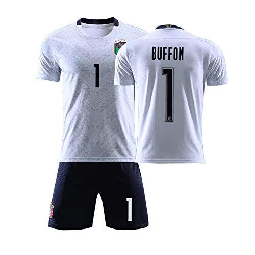 Herren Fußballtrikot # 1 Buffon # 3 Maldini # 21 Pirlo Fußballtrikot New Fan Trikot Retro Trikot Sportswear Für Erwachsene/Kinder Jersey Shorts Socken Anzug-01-XS