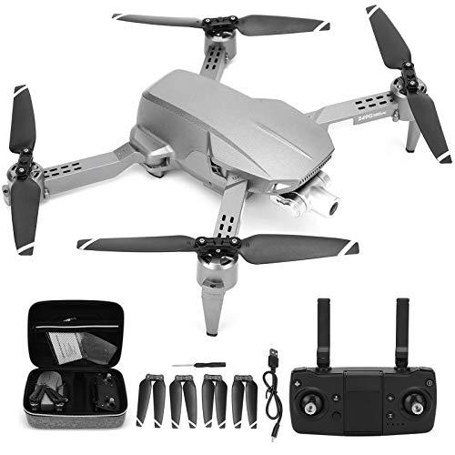 Mini RC Drone, portátil Mini Plegable 2.4G Control Remoto GPS Drone 4K Estabilizador de 2 Ejes Quadcopter con Seguimiento de Imagen, trayectoria de Vuelo, Toma de Gestos RC Drone para Principiantes