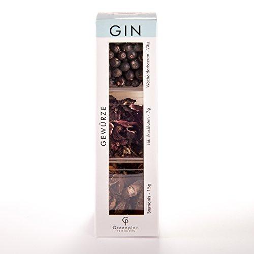 Gin Gewürzbox Special-Edition 3-er Set Gin Botanical´s Gin-Tonic Gewürze Gin-Set Gin-Gewürze Kit Botanicals - Greenplan Products