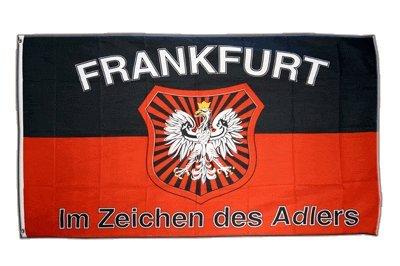 Flagge Fanflagge Frankfurt Im Zeichen des Adlers - 90 x 150 cm