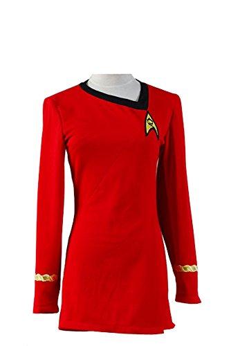 Elecos Star Trek Uniform Kleid TOS Kostüm Rot Damen M