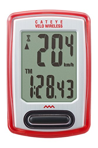 CAT EYE - Velo Wireless Bike Computer, Red