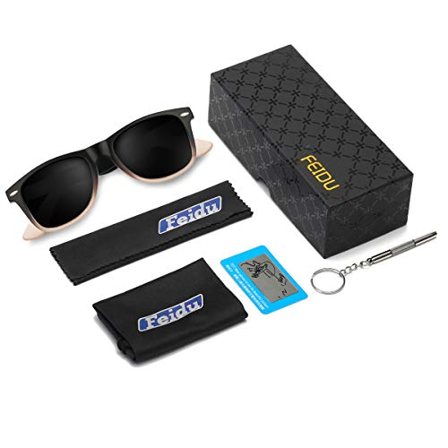 ウェリントン偏光メンズサングラス UVカットレディースサングラス UV400加工 男女共用 ユニセックス グラデーションブラック