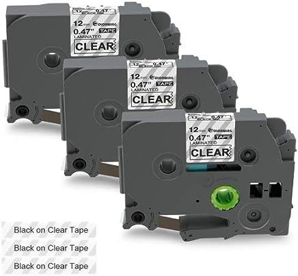 "1//2 Inch x 26.2ft, 4 Pack P-Touch 12mm 0.47/"" Blue on White TZe-233 TZ-233 tze-233 Label Tape Compatible with Brother Label Maker PT-D210 PT-H100 PTD400AD PT-P700 PTD600 PT-H110"