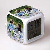 BMSYTY Juguete Led despertador digital despertador reloj despertador de dibujos animados despertador reloj despertador de luz reloj wekker 11