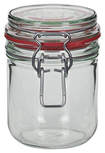 4 x 400 ml Drahtbügelglas / Spannbügelglas rund - inkl. Deckel, Gummidichtung und Spannbügel - Einkochglas - Einweckglas - Einmachglas - Bügelglas - Haushaltsglas - Allzweckglas - Aufbewahrungsglas