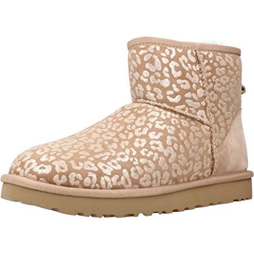 UGG Damen Classic Mini Snow Leopard Klassische Stiefel, Amphora, 38 EU