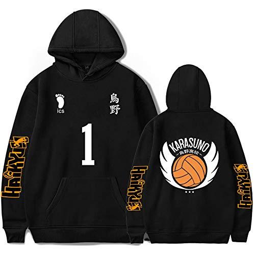 Haikyuu Hoodie Volleyball Club Hooded Kozume Kenma Hoodies Pullover Jacket Anime Sportswear Coat Sweatshirt Karasuno High School Hinata Shoyo Kageyama Tobio Costume