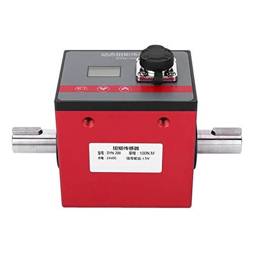 Dynamischer Drehmomentsensor, DYN-200 100N.M Leistung Torsionsdrehmoment Drehmoment Drehsensor Messgerät, Drehmomentleistungstester zur Motordrehzahlmessung