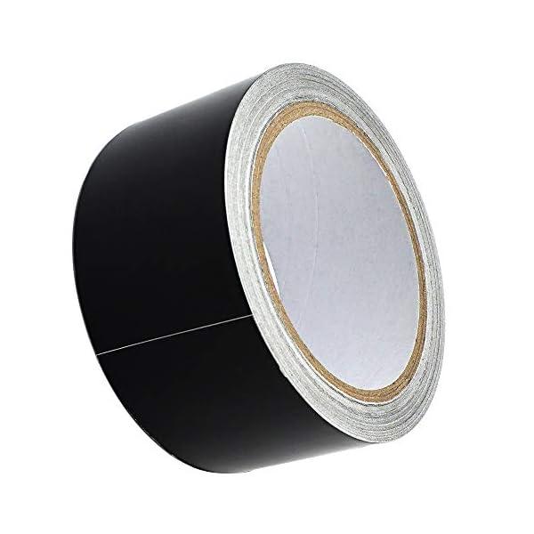 Cinta Adhesiva de Aluminio, 20m x 50mm, Color negro