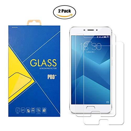 iLeaf [2 Pack de película de Cristal Templado Meizu M5 Note (Meilan Note 5/Blue Charm Note 5/M621C/M621H) – Pantalla antigolpes y antiarañazos, Cristal Templado Compatible con Meizu M5 Note