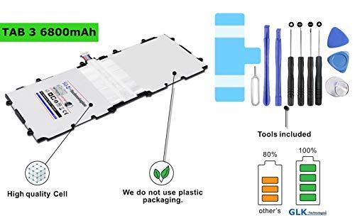 High Power Ersatzakku für Samsung Galaxy Tab 3 10.1 akku/GT P5200 P5210 P5220 | Original GLK-Technologies Battery | accu | 6800mAh Akku | inkl. Werkzeug Set Kit 2020 B.j