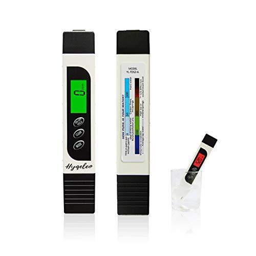 TDS Meter Digital Water Tester,TDS EC & Temperature Meter 3 in 1, Ideal PPM Meter for Drinking Water,RO System Aquariums Swimming Pool and More, 0-9990 ppm meter