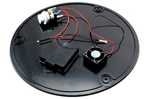 LotusGrill - Placa de suelo XL de repuesto con ventilador y caja de cambios - Listo para instalar y cableado para la barbacoa LotusGrill / LotusGrill XL