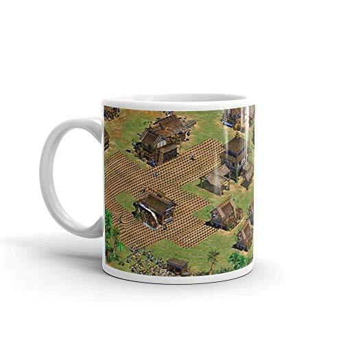 Lplpol Age of Empires - Taza de cerámica brillante para amantes del café, té y café, regalo para hombres y mujeres, 325 ml
