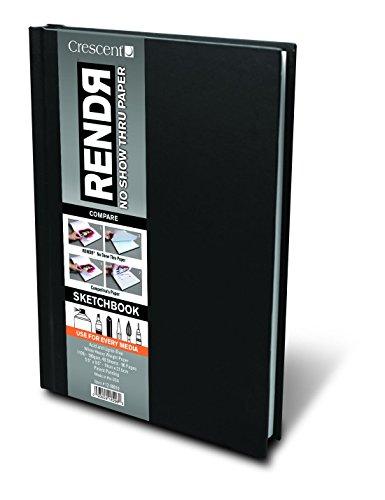Crescent RENDR Markerpapier - Sketchbook mit hardcover 48 Blatt - 180g - 14x21,5cm