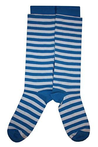 Weri Spezials dames katoenen broek met strepen in wit+blauw