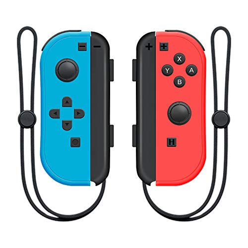 SINGLAND Wireless Controller for Nintendo Switch Left and Right Switch Controller,Switch Controllers Gamepad with Adjustable Shock Gyro Axi(Red and Blue)