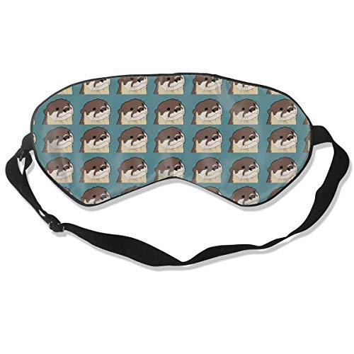 OTTER Pattern Augenmasken Schlafmaske 100% doppelseitige Seide Supersmooth-Augenmaske Ultraweicher,...