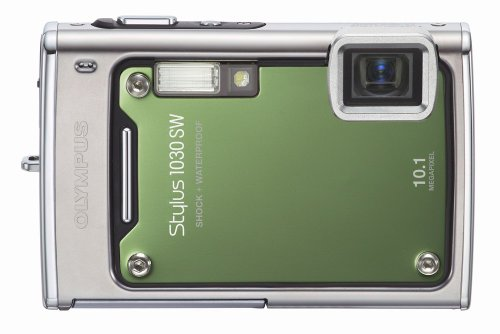 Olympus Stylus 1030SW 10.1MP Digital Camera with 3.6x Optical Wide Angle Zoom (Green)