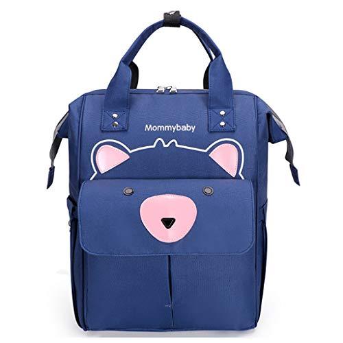 Bolsa de pañales Mochila de dibujos animados oso bebé cambiador de pañales mamá bolsas de maternidad con, Blue (Azul) - guangruiorrtysjb3TT904492-BL