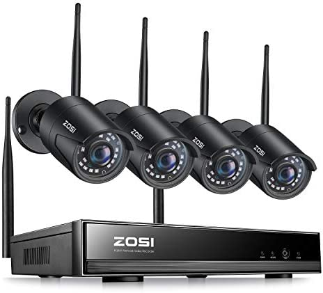ZOSI 1080P Wireless Security Camera System H 265 8 Channel 2MP CCTV NVR Recorder and 4pcs 1080P product image