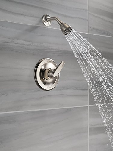 Delta Faucet Foundations 13 Series Single-Function Shower Trim Kit with Single-Spray Shower Head, Stainless BT13210-SS (Valve Not Included)