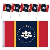 hatatit New Mississippi State Flag Double Side 3x5FT,in God We Trust Flag, Magnolia Flag Brass Grommets with 5Pcs Mini Hand Mississippi Flag