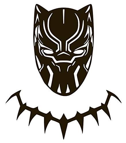 Black Panther Vinyl Sticker Decals for Car Bumper Window MacBook pro Laptop iPad iPhone (6' x 5.1', Black)