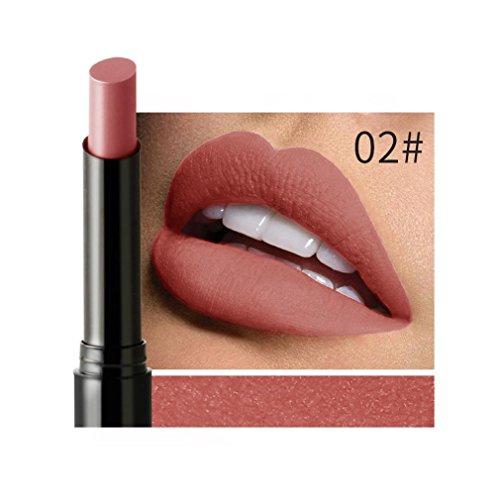 IGEMY NICEFACE lang anhaltende Samt Matte Farbe Bleistift Wasserdicht Lippenstift Wachsmalstift Sexy Make-up (B)
