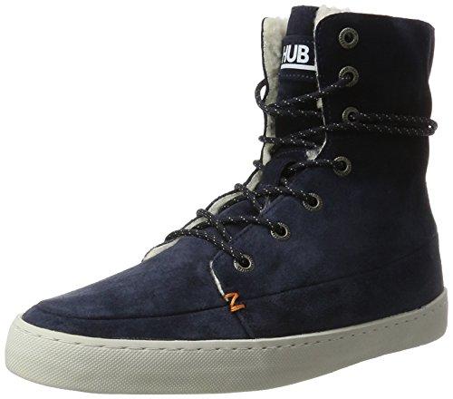 Hub Damen Vermont N30 Hohe Sneaker, Blau (Dark Navy/Lite Grey), 41 EU