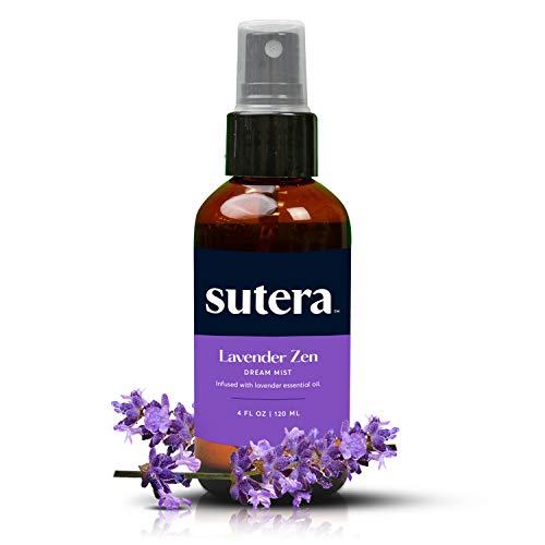 Sutera- Lavender Zen Dream Mist Sleep Spray 4 oz, Pillow Spray, Real Lavender Essential Oil Room Aromatherapy, Relaxing Home Fragrance Linen Mist, Natural Sleep, Calming Relaxation